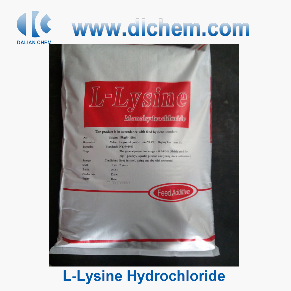 Hot Sell Best Price CAS No 10098-89-2 L-Lysine Hydrochloride for Sale