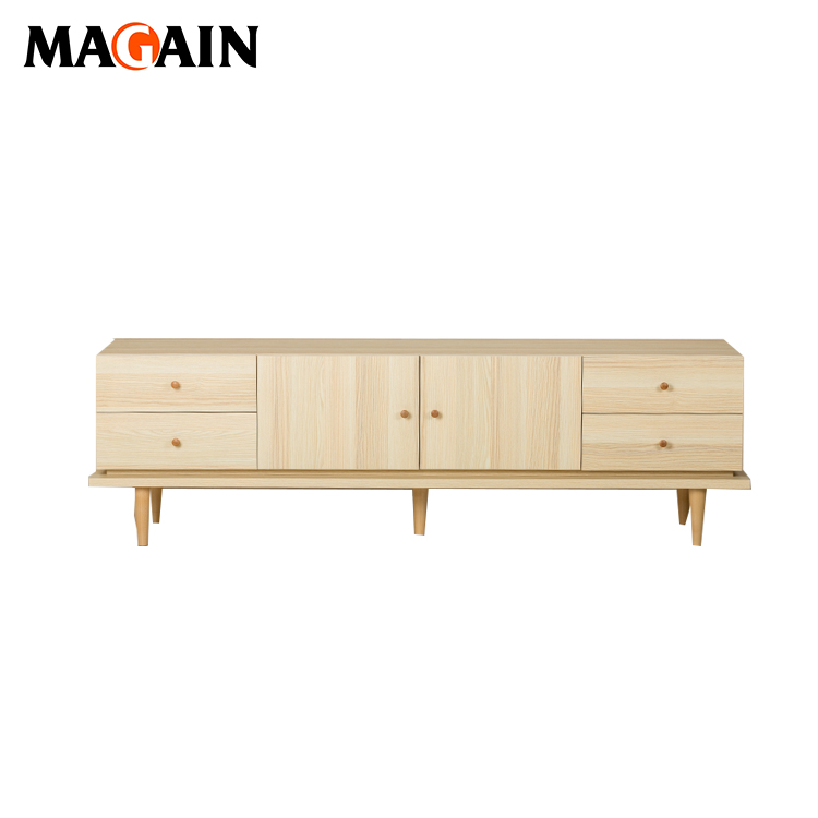 Wooden Furniture Modern Corner TV Cabinet TV Showcase