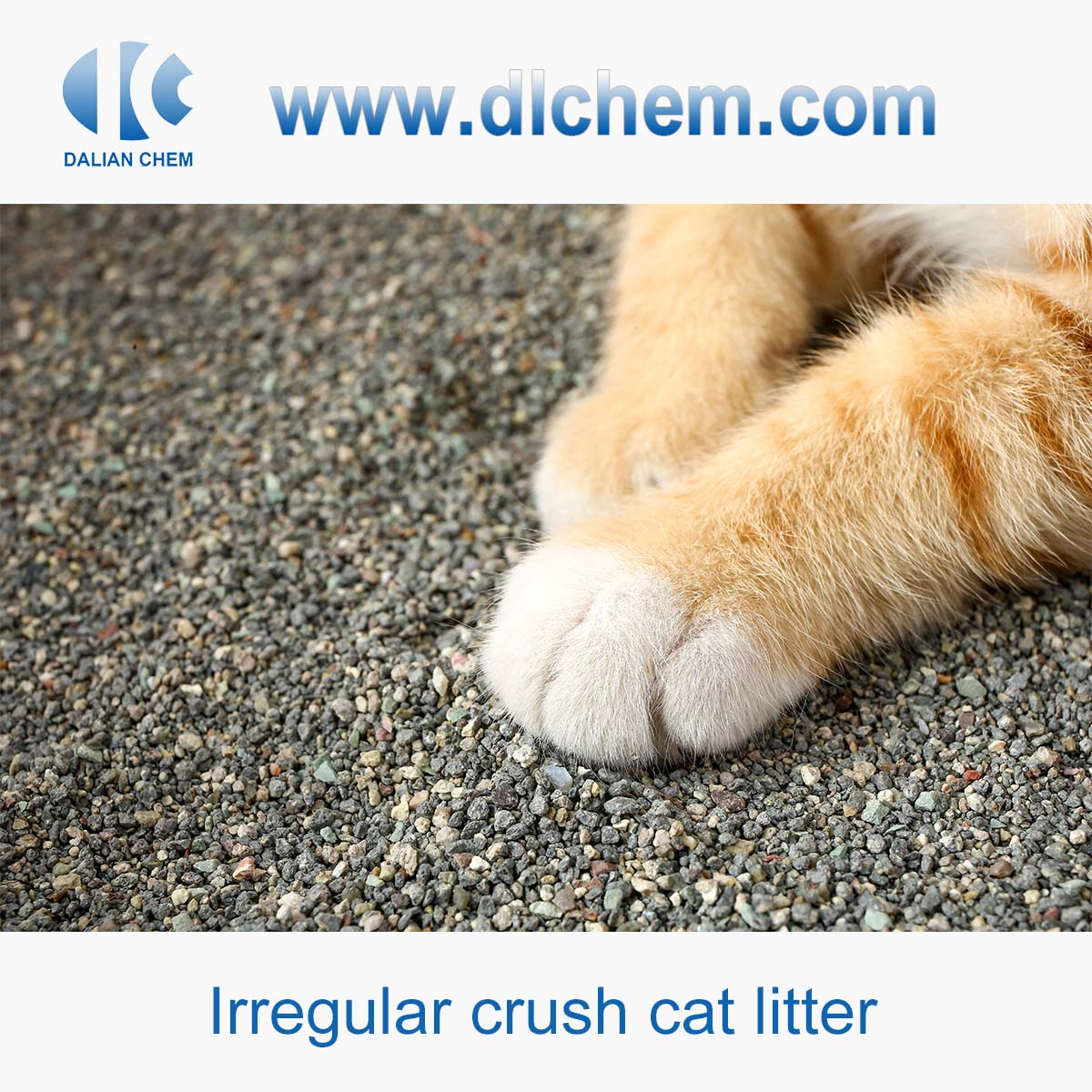Environment friendly Irregular crush cat litter with low cost